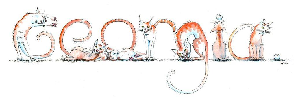 Spelling Animals: Georgia in cats