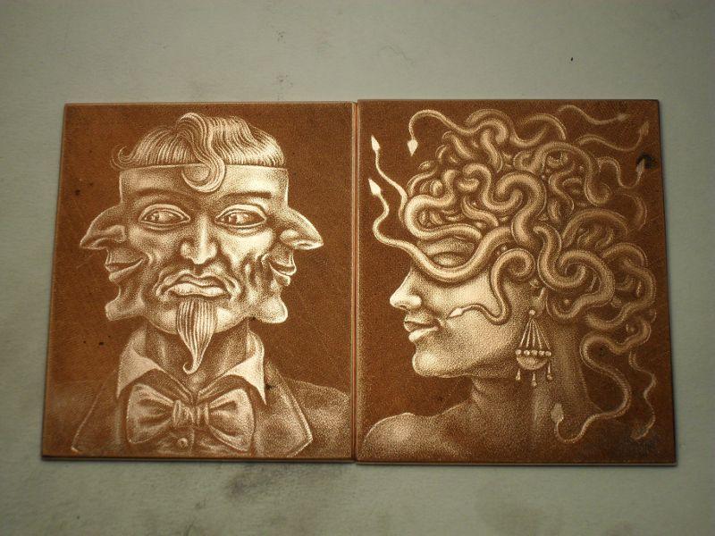 copper mezzotint plates
