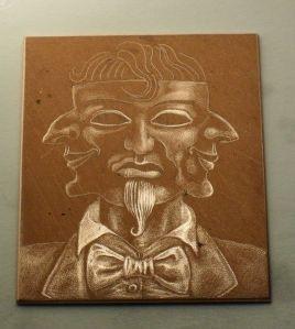 Work in progress: mezzotint plate 2