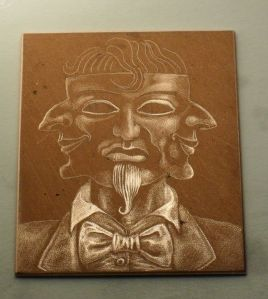 Work in progress: mezzotint plate 2