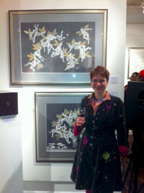Nancy Farmer at Art Erotica with the 'Fornicating Fairies'