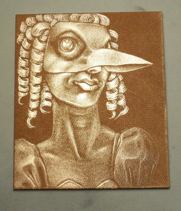 Burnished mezzotint plate