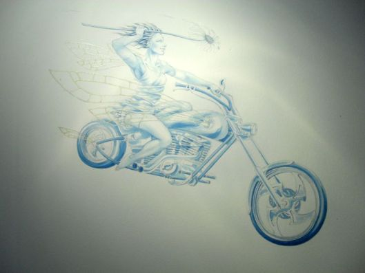 'Daisy Chopper' - painting stage 2 by Nancy Farmer