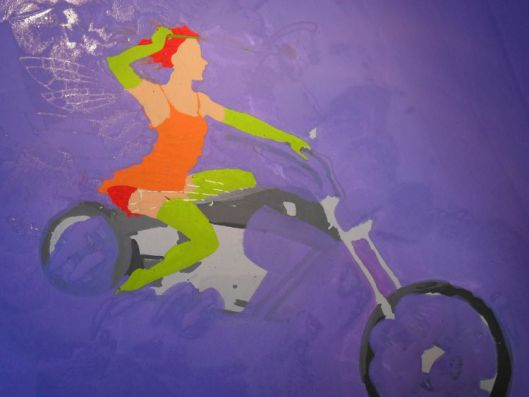 'Daisy Chopper' - painting stage 3 by Nancy Farmer