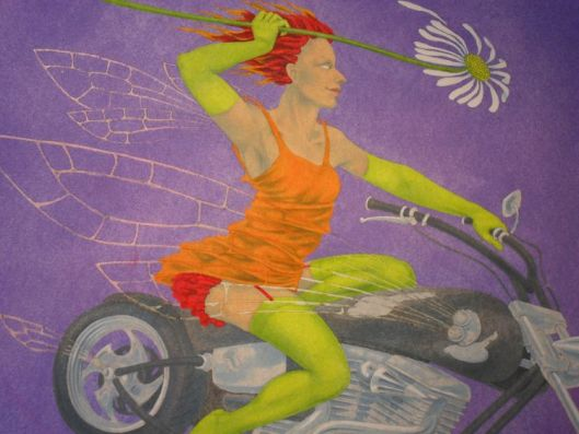'Daisy Chopper' - painting stage 4 by Nancy Farmer
