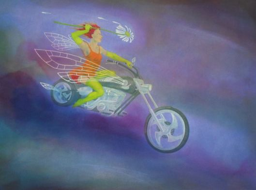 'Daisy Chopper' - painting stage 5 by Nancy Farmer