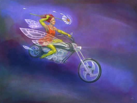 'Daisy Chopper' - painting stage 6 by Nancy Farmer