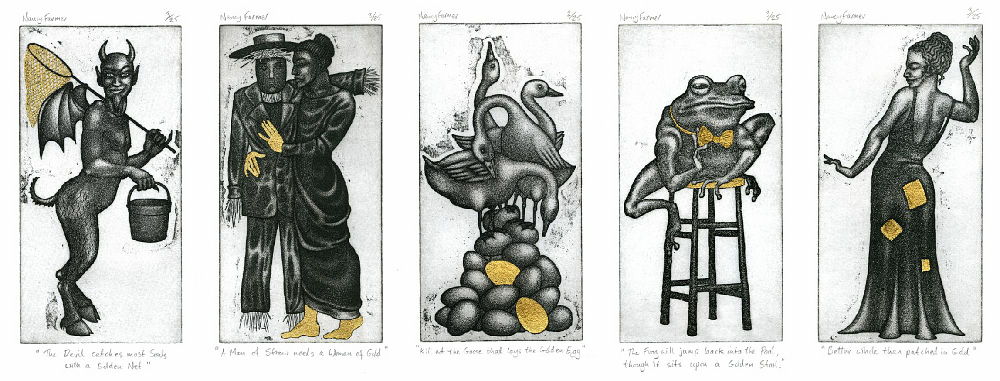 Proverbs in Gold - Etchings by Nancy Farmer