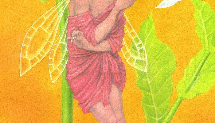 Painting - the tobacco plant fairy