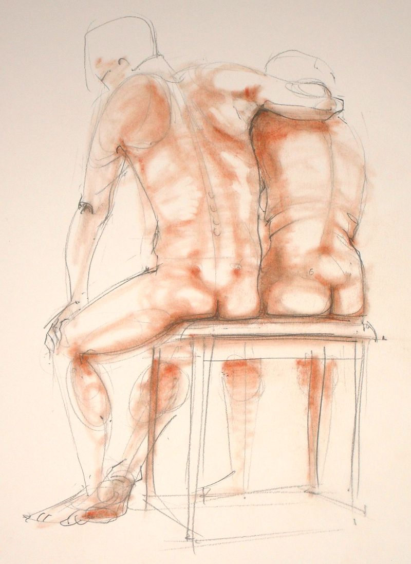 Life Drawing sketch no: 2012-10 by Nancy Farmer