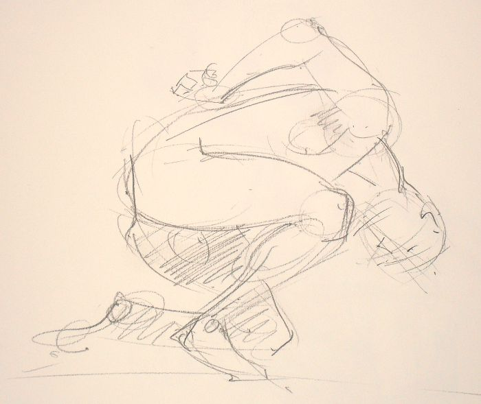 And another Dave pose, though not one I had much time to get down on paper...