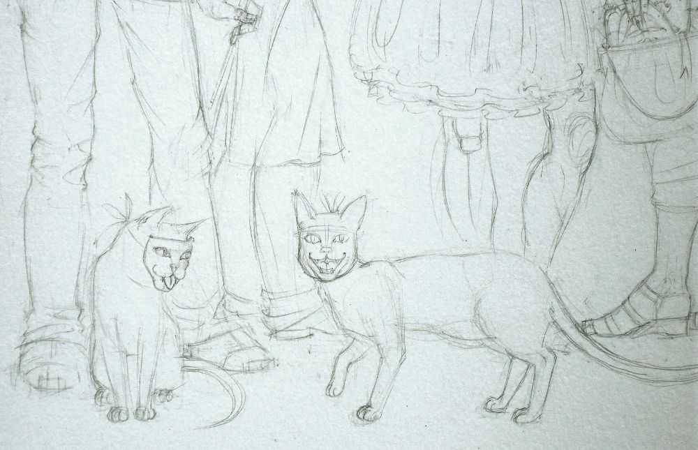 masquerade sketch (detail 4)