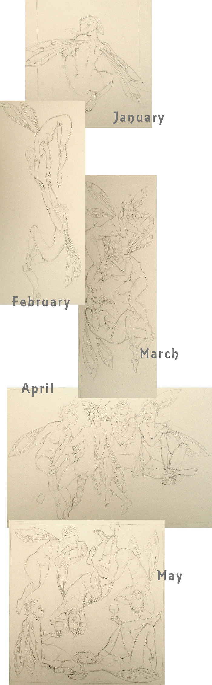Sketches for the 2012 calendar
