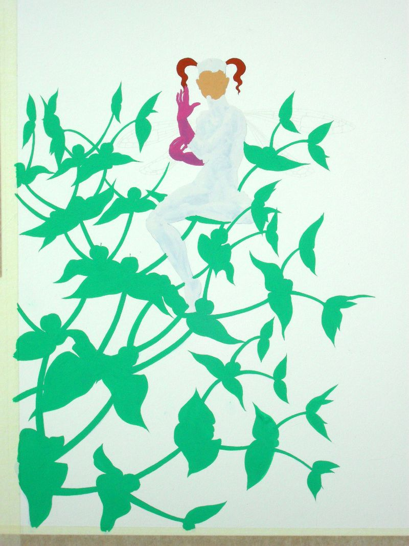Painting the Caper Spurge Fairy: under-painting in colour