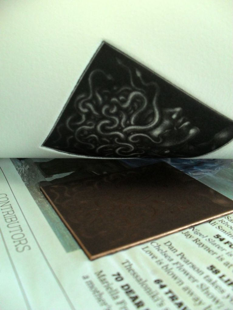 The printing of a Mezzotint
