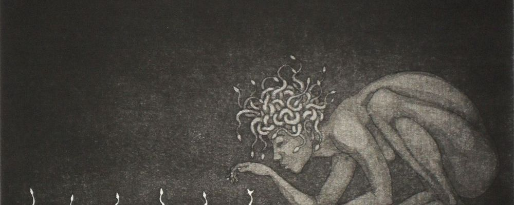 Medusa's Seedlings - finished etching print
