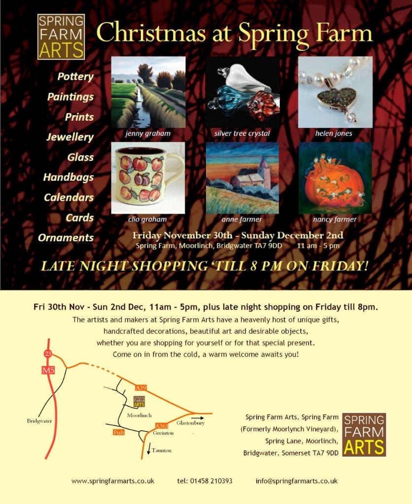 Flier: Spring Farm Arts Christmas Fair