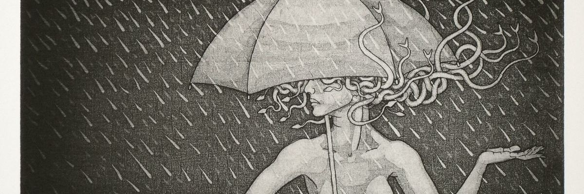 Medusa and Umbrella for the 2014 calendar