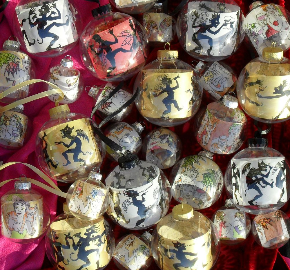 A few of the 2012 batch of baubles.