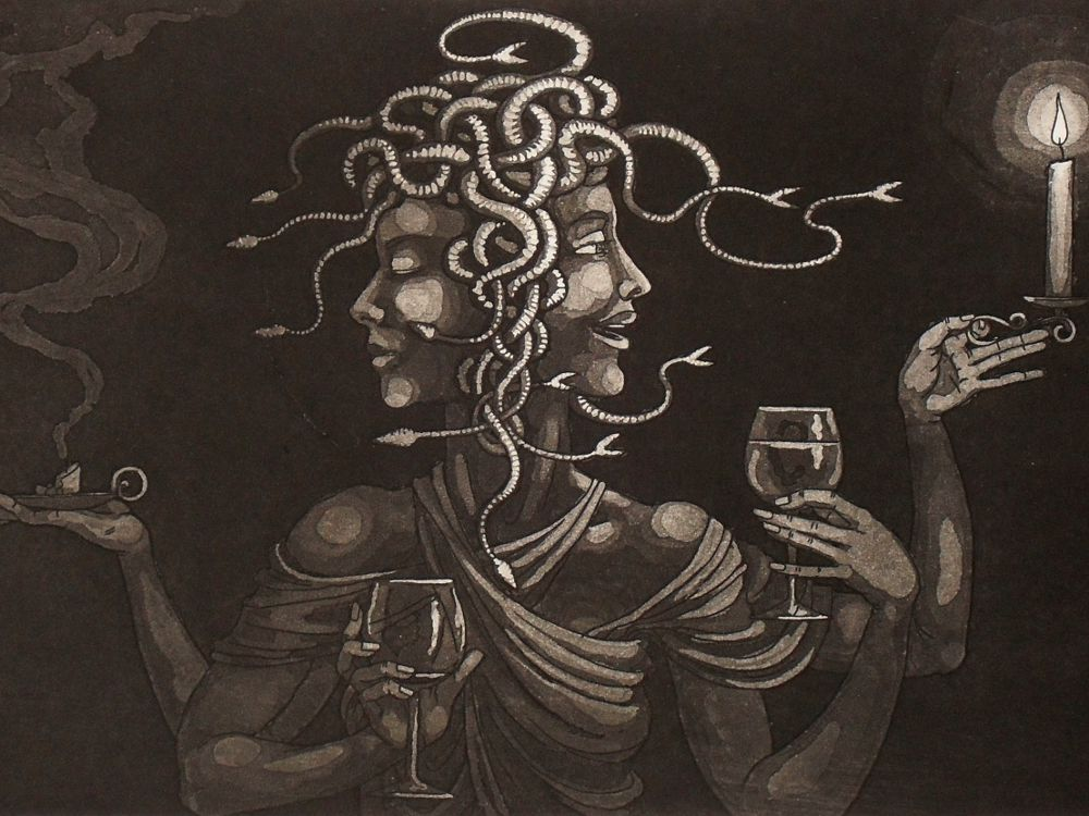 Medusa as Janus - detail