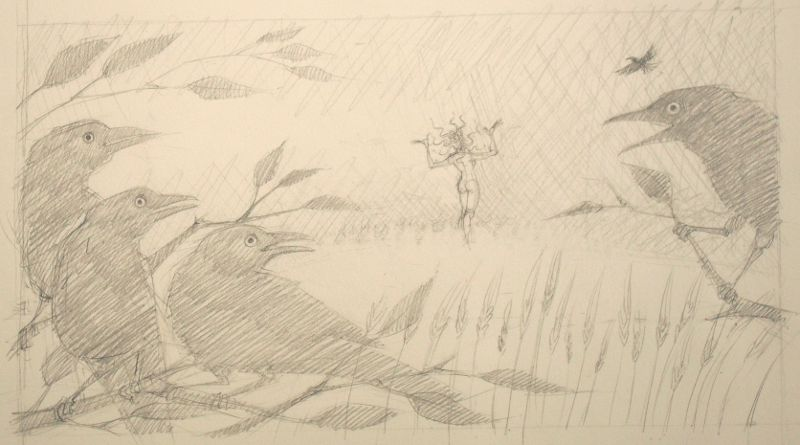 Scarecrow Medusa - sketch two
