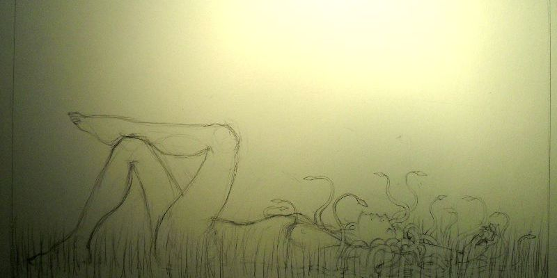 Sketch for: Medusa, and Snakes in the Long Grass