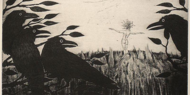 Medusa etching for September: 'Scarecrow Medusa'