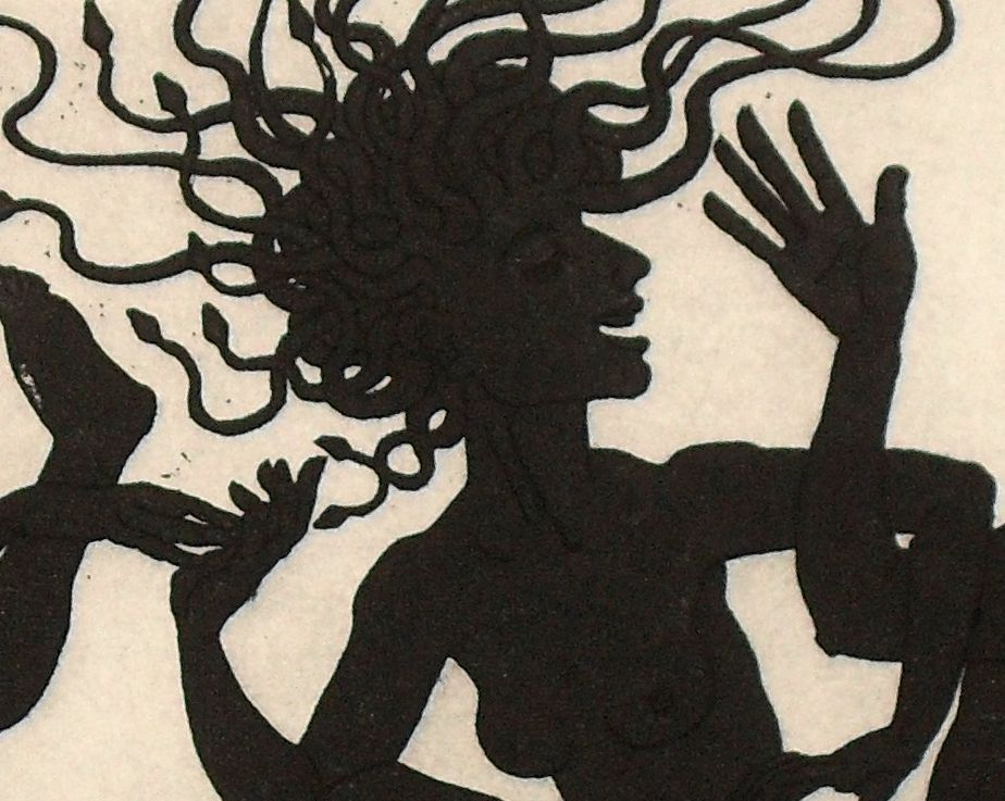 detail: Medusa at Beltaine