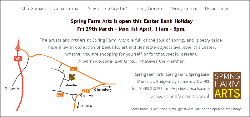 Spring Farm Arts Easter 2013 flier back