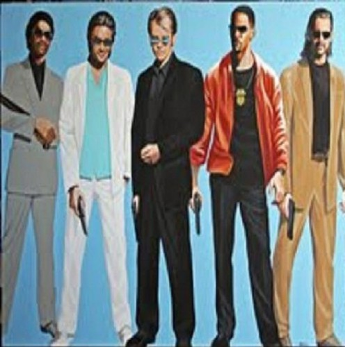 painting by Don Hall: Miami Vice