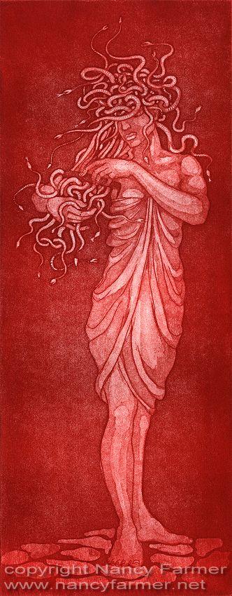 Medusa's Comb - etching print, 2010