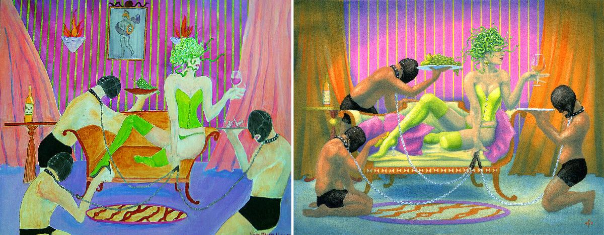 """Medusa's Gimps"" - copy (left) and original (right)"