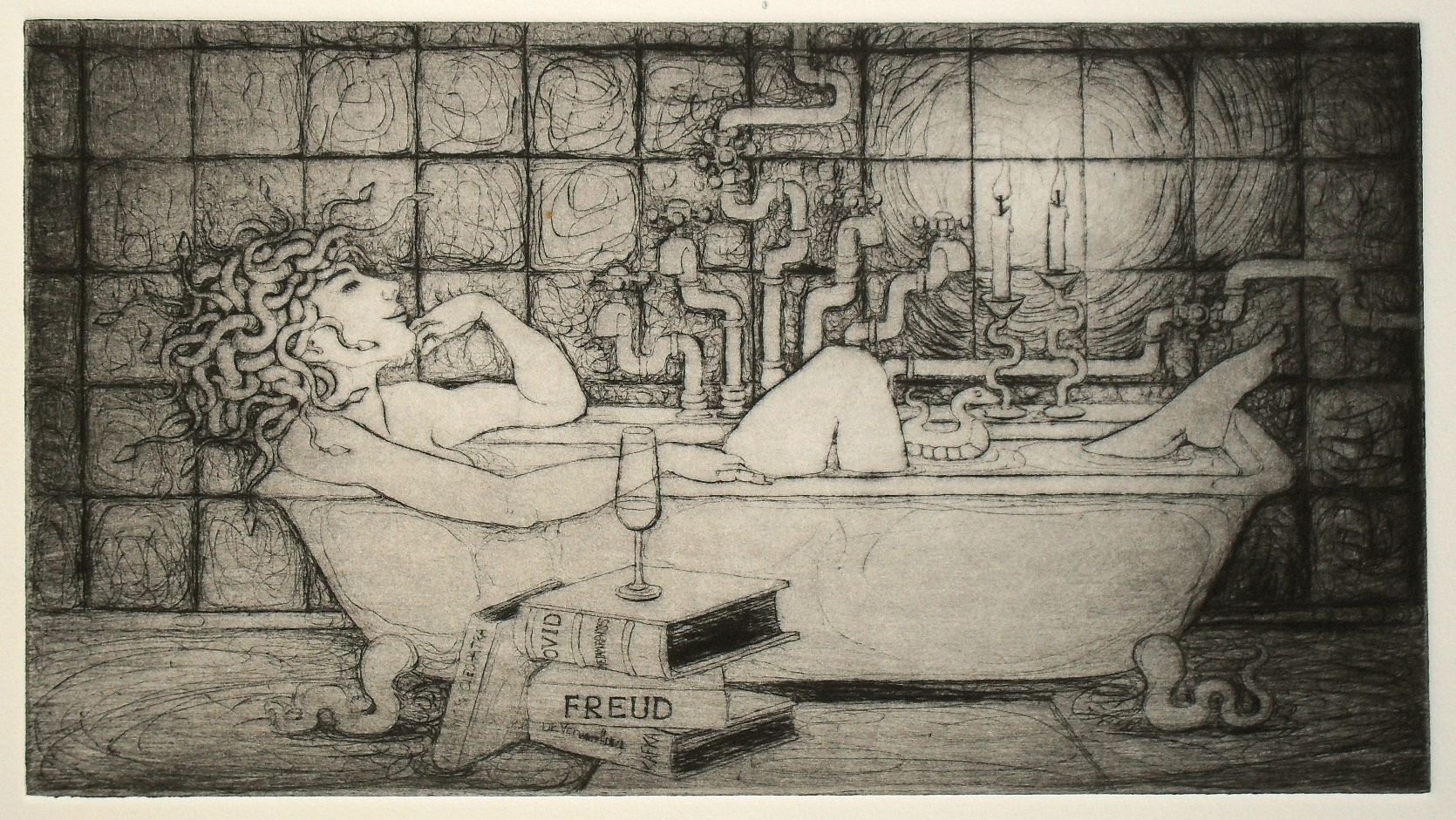 Drypoint is the new etching art by nancy farmer - The bath point ...