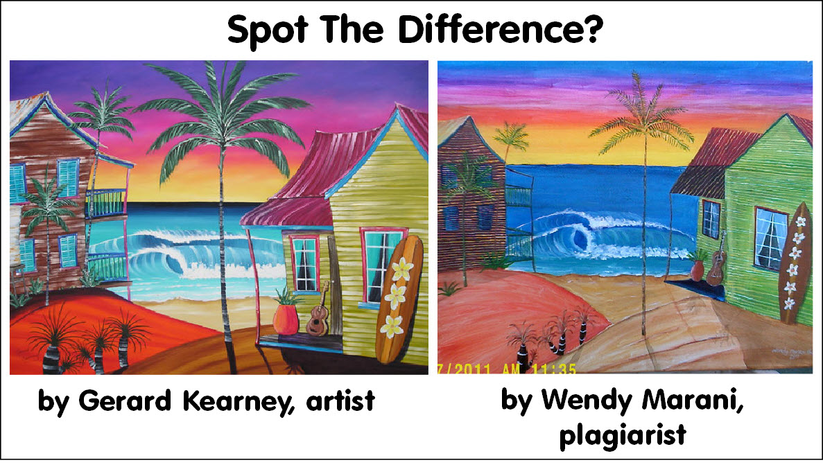 Painting by Gerard Kearney, plagiarism by Wendy Marani