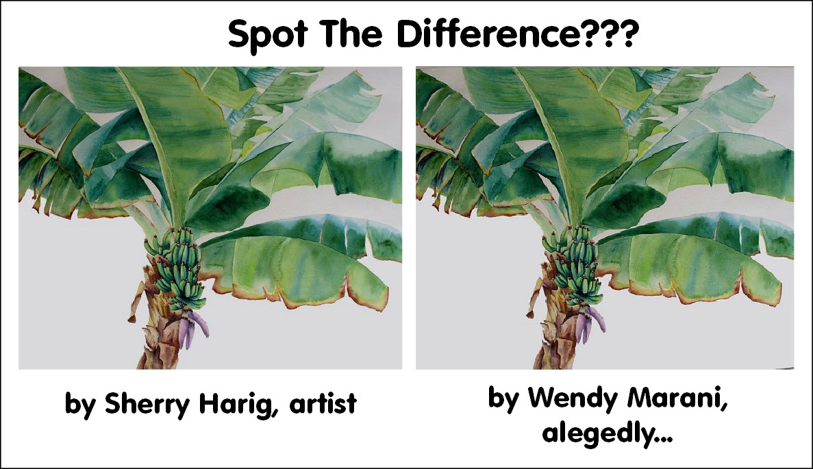 Painting by Sherry Harig, plagiarism by Wendy Marani