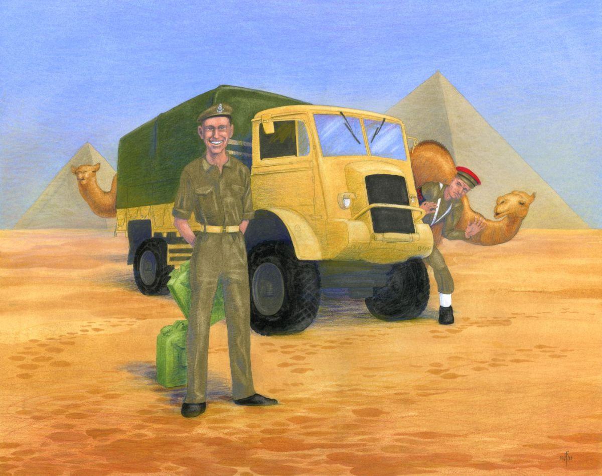 Arthur Clark in Egypt, close-up 1