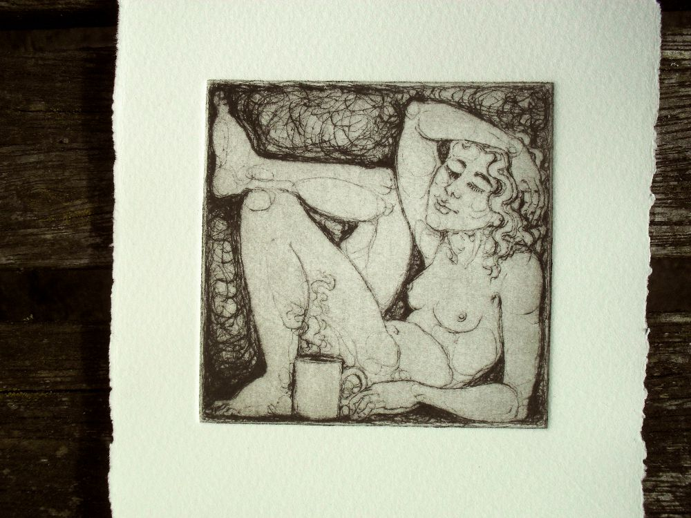 Drinking Nudes - drypiont prints for handmade coasters - 3