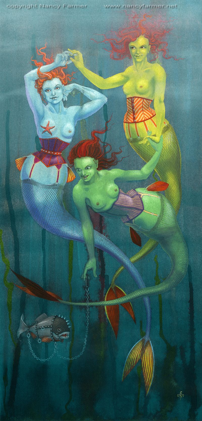 Fishnets - painting by Nancy Farmer