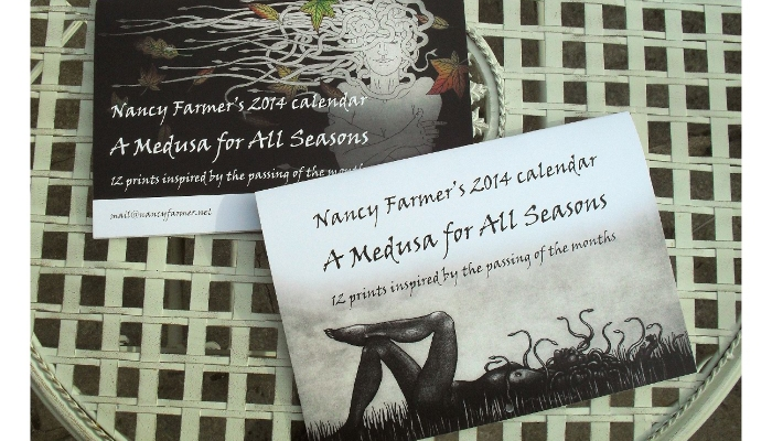 A Medusa for All Seasons: Calendar by Nancy Farmer, front and back covers