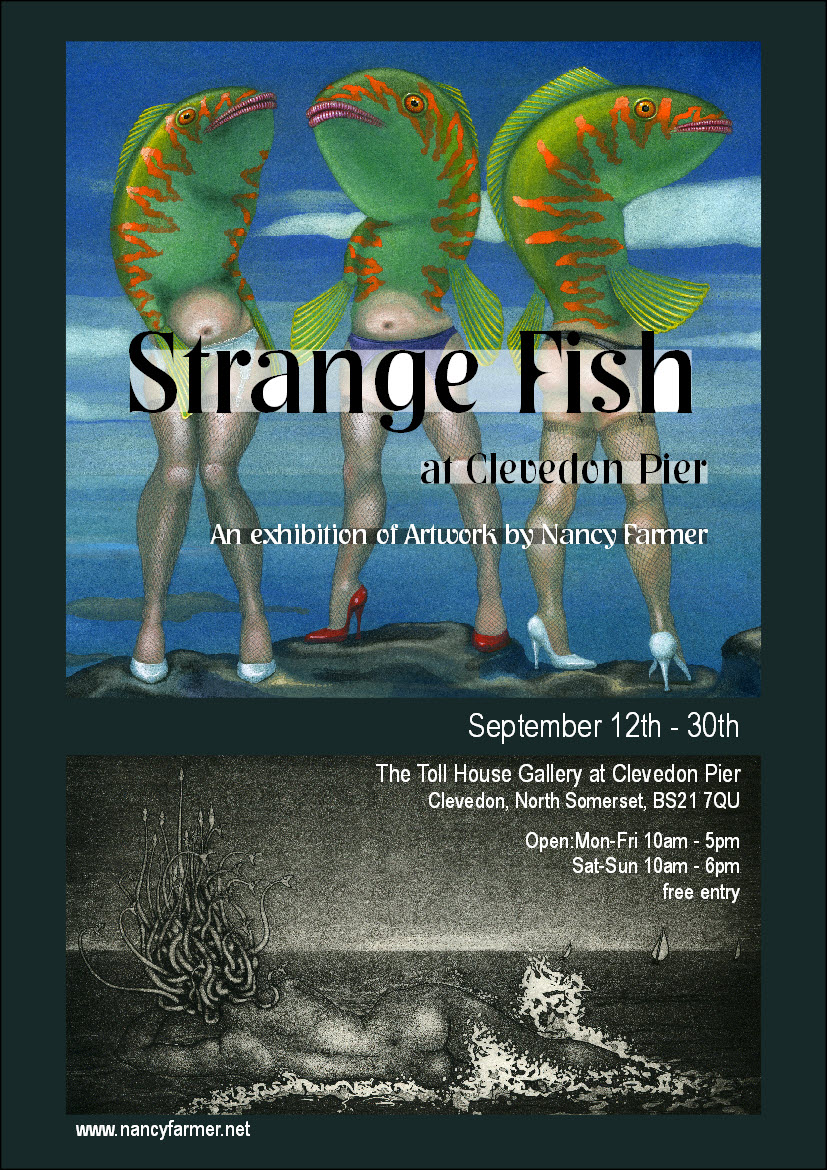 Strange Fish at Clevedon pier - exhibition poster