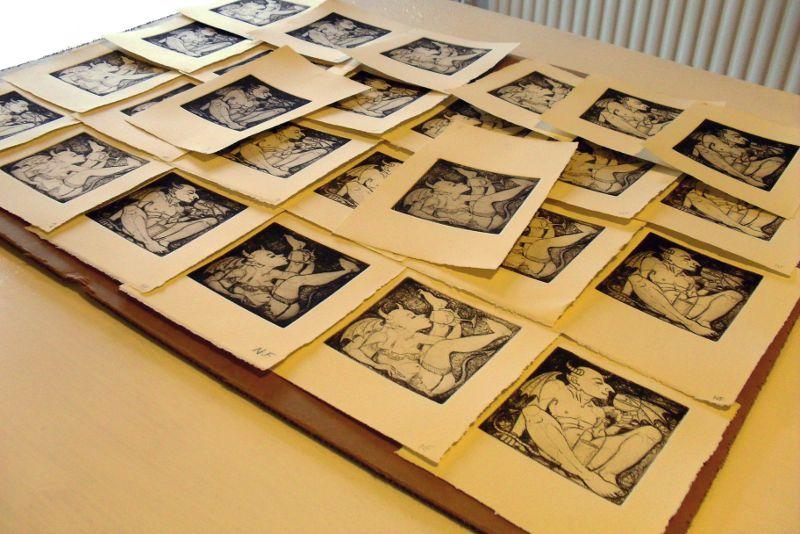 26 drypoint prints