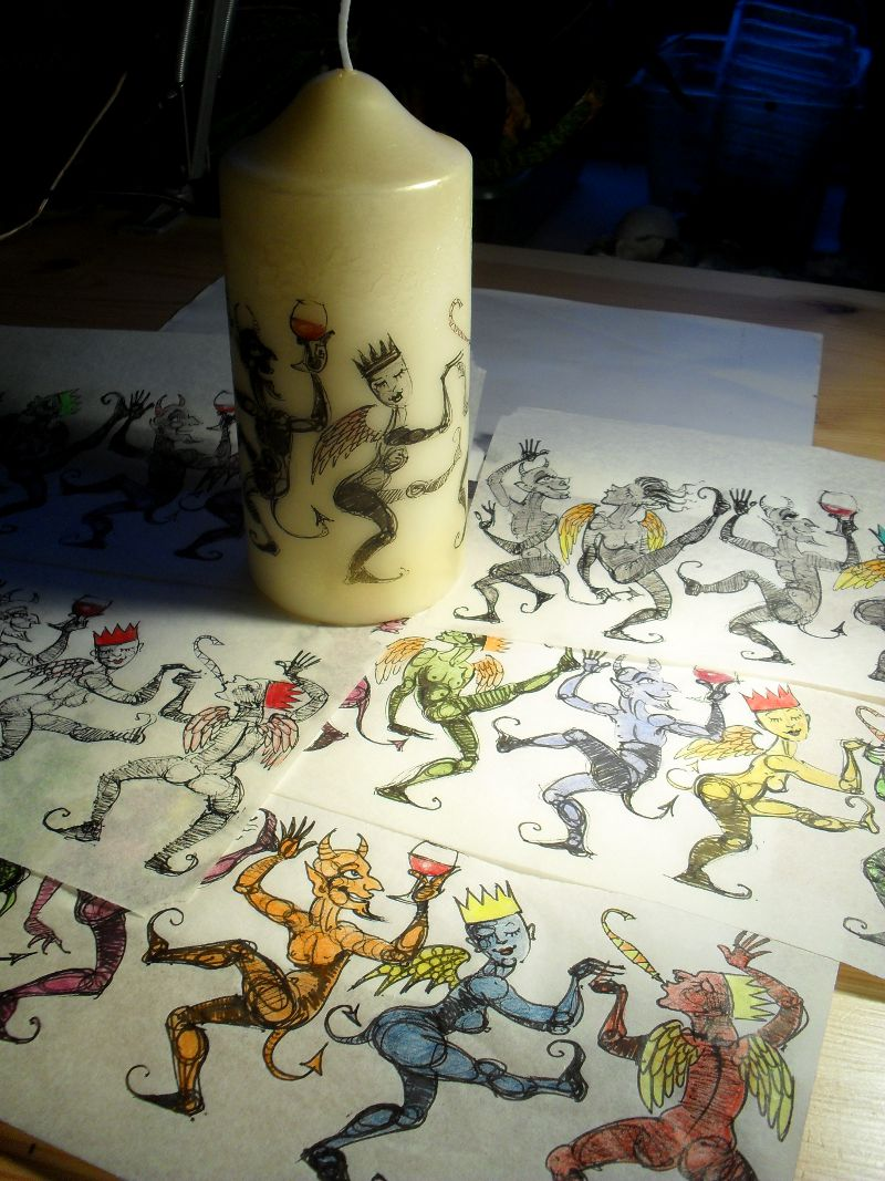 Dancing Demons Candle