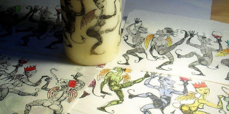 Dancing Demons Candle