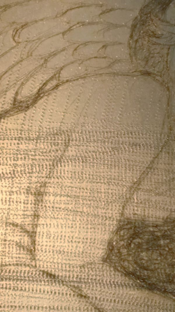 close-up of mezzotint rocker marks
