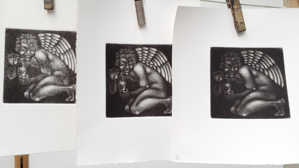 three prints, of varying success