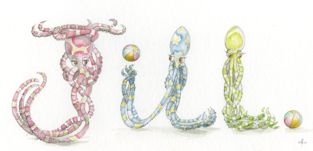 Octopi Spelling Animals