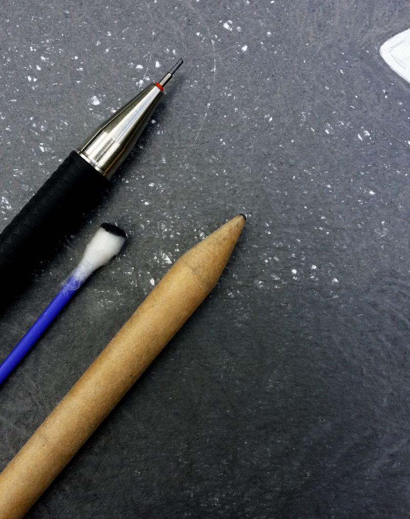 drawing and smudging tools