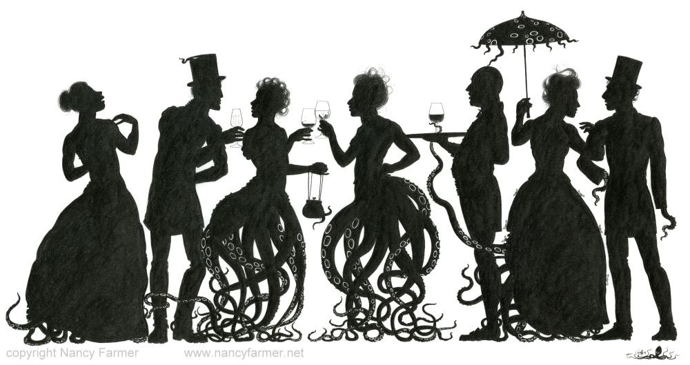 Octoparty - scan of the drawing