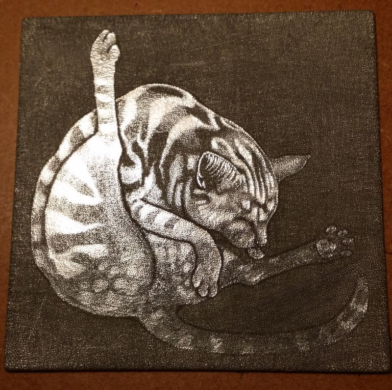 The finished mezzotint plate