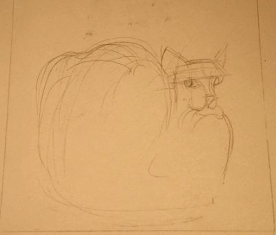 Cat-and-dead-rat sketch 2